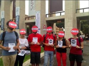 Il flash mob alla Sapienza