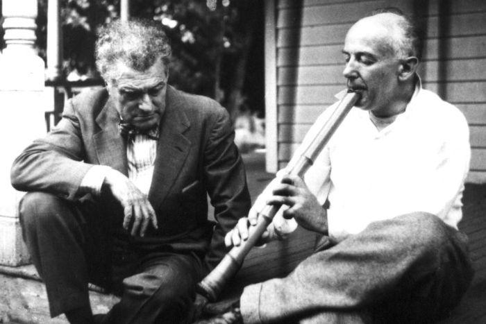 Edgar Varese con Henry Cowell