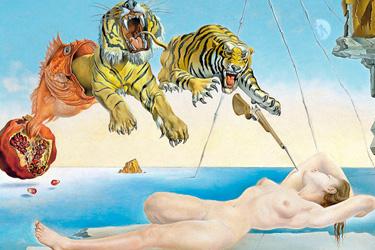 Sogno-causato-dal-volo-di-unape-intorno-a-una-melagrana-un-attimo-prima-del-risveglio-di-dali-museo-thyssen-madrid