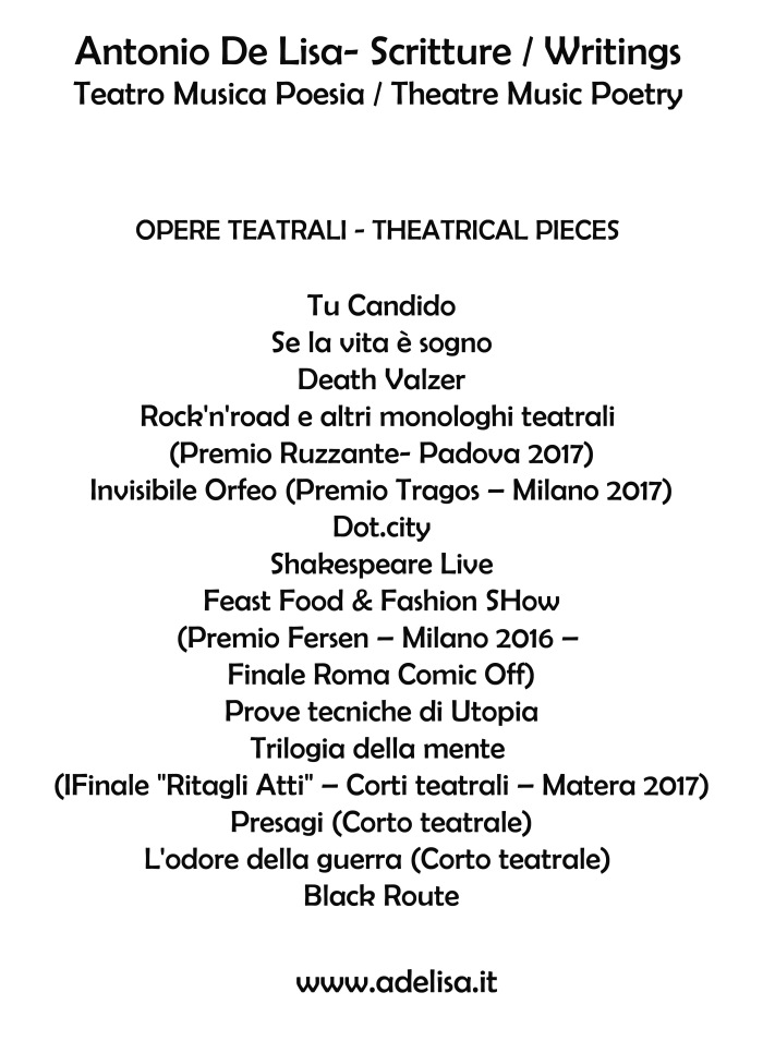 Locandina Opere teatrali
